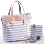 Gadikat Nappy Bag - Avery Harbour Stripe - Complementary Changing Pad Included
