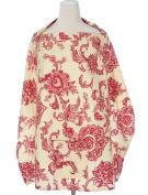 Nursing Cloth for Breastfeeding Baby Infant Cotton Shawl Poncho Floral Printed Safe Blanket