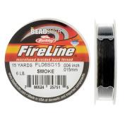 FireLine Braided Beading Thread, 2.7kg Test and 0.02cm Thick, 15 Yard Mini Spool, Smoke Grey