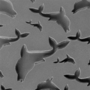 Cool Tools - Flexible Texture Tile - Flying Dolphins - 10cm X 5.1cm