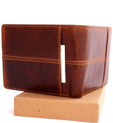Men's leather wallet Money Genuine vintage Oiled Slim Coin Natural Zipper Pocket Purse Luxury Style Id IL