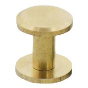 Fujiyuan 20 Sets Solid Brass Flat Head Button Stud Screwback spot For Screw Leather Belt Shaft Length 10mm x 4mm x 15mm