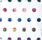 Jillson Roberts Hot Stamped Tissue Available in 5 Colours, Metallic Rainbow Dots, 24-Sheet Count
