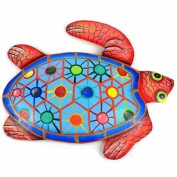 Caribbean Craft Hand Painted Metal Turtle Tropical Design