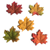 Hgshow Artificial Fall Maple Leaves in a Mixture of Autumn Colours - Great Autumn Table Scatters for Fall Weddings & Autumn Parties