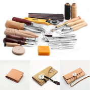 Kangnice Stitching Carving Working Hand Sewing Saddle Groover Punch Tools Leather Craft Set