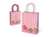 Punch Studio Lady Jayne Pink Party Treat Gift Bags 8 Ct Set - Floral Balloons