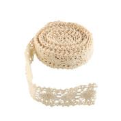 Funnytoday365 Vintage Ivory Bridal Wedding Trim Ribbon Craft Cotton Crochet Lace Fabric
