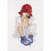 Girl Dreaming Counted Cross Stitch Kit-18cm x 29cm 14 Count
