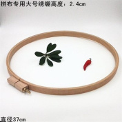 1PC Dia37cm High 2.4cm Beech Wooden Embroidery Hoop For Embroidery Patchwork Round Wood Art Handicraft Tools Chelsea Bloxsom