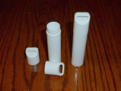 50 NEW Empty WHITE Lip Balm Chapstick Tubes Containers WITH LANYARD CAPS -.15 oz / 5 ml Tubes & Caps DIY Make your Own
