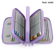 72-colour Professional Art Drawing Pencils / Coloured Pencils for Artist Sketch, Set of 72 Assorted Colours With Multi-layer Pencil Cases/Holders Purple