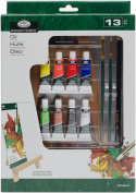 REA5406 Easel Art Oil A Set, 13 Pieces