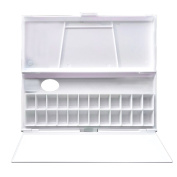 Transon Folding Watercolour Paint Tray Palette, 24 Wells with Thumb Hole.