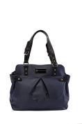 'Justine' Baby Bag / Nappy Bag - Carryall Satchel - Midnight Blue