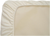 Organic Cotton Mini Fitted Sheet in Ivory