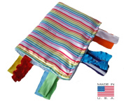 Baby Jack Sensory Blanket Rainbow Educational Lovey Made in USA