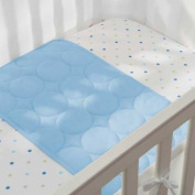 Soft, Breathable Wick Dry Plush Sheet Saver in Blue Mist