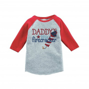 Custom Party Shop Daddy's Firecracker 4th of July Raglan Tee