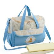 Multifunction Large Capacity Nappy Tote Bag Organiser-Blue