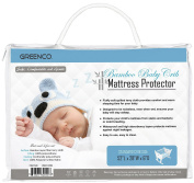 Greenco Ultra Soft Cotton, Quilted Terry, Waterproof, Noiseless, Bamboo Baby Crib Mattress Protector.