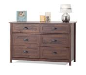 Childcraft Abbott Double Dresser, Rich Walnut