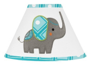 Sweet Jojo Designs Turquoise White and Grey Mod Elephant Girl or Boy Baby Childrens Lamp Shade