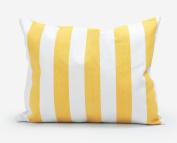 PrimeKey Throw Charming Pillow Cover Sharp Yellow Stripe Toss Pillowcase with Hidden Zipper Closure 30cm X 46cm