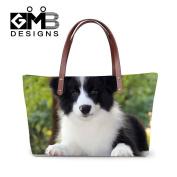 Generic The Edge of Dog Printed Large Capacity Shoulder HandBags for Women Girls Casual Waterproof Tote Bags