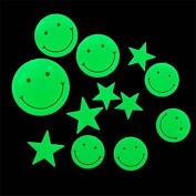Funnytoday365 Plastic 3D Stars Glow In The Dark Luminous Fluorescent Wall Stickers