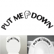 Funnytoday365 Put Me Down Sign Gesture Hand Signal Decal Funny Bathroom Toilet Seat Sticker