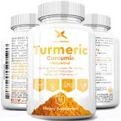 Crossbiotics Turmeric Curcumin ULTRA 1200mg with Bioperine® - 1200mg Organic Turmeric per Serving - 95% Curcuminoids - 60 Vegetarian Capsules - Antioxidant, Anti Inflammatory, Joint and Heart Health