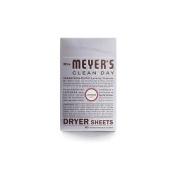 Mrs. Meyers 1211317 Dryer Sheets, Lavender - 80 Sheets
