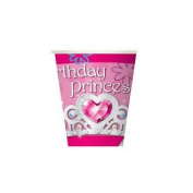 PINK BIRTHDAY PRINCESS - 8 PCS 300ml CUPS