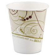 Solo Cup 376SMSYM Paper Hot Cups in Symphony Design - Polylined, 180ml
