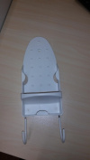 Decor Hut over door iron holder with hook for ironing board, keep it all behind your door! Great Space saver!