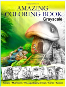 Amazing Coloring Book. Grayscale