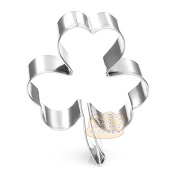 4 Pcs Packed Plants Clover Stainless Steel Cookie Dessert Cake Cutter DIY Mould
