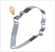 4 Pcs Packed Food Icecream Stainless Steel Cookie Dessert Cake Cutter DIY Mould