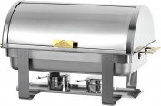 PrestoWare 28005, 7.6l Roll Top Chafing Dish with Gold Accent