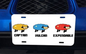 Star Trek Sheep Art Aluminium Licence Plate for Car Truck Vehicles