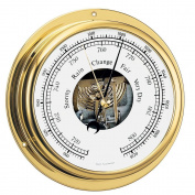 BARIGO Viking Series Ship's Barometer - Brass Housing - 13cm Dial