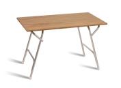 FORMA MARINE Teak Veneer Deck Table, Boat Table, Folding, Double Height Positioning, Rectangular, Anodized, Aluminium, Model M600T