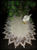 Lace 90cm Table Runner Dresser Scarf Neutral Earth Tones European Lace