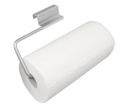 YouCopia Over the Cabinet Door Paper Towel Roll Holder, Stainless Steel