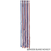 "GIFTEXPRESS® 33"" 7mm Patriotic Beads Necklaces/4th of July Bead Necklaces/Party Favour Patriotic Necklaces/Patriotic Party Beads/Memorial day party"