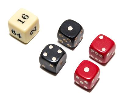 Bello Games Uria Stone Backgammon Dice Sets-Red/Black 1.6cm