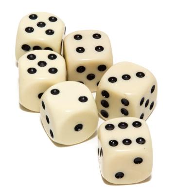Bello Games Uria Stone Dice 6 Dice Set 1.6cm