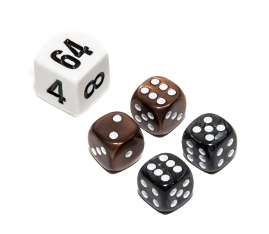 Bello Games Deluxe Marbleized Dice Sets-Black/Brown 1.3cm