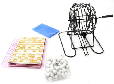 Classic Bingo Lotto Game Set With Balls